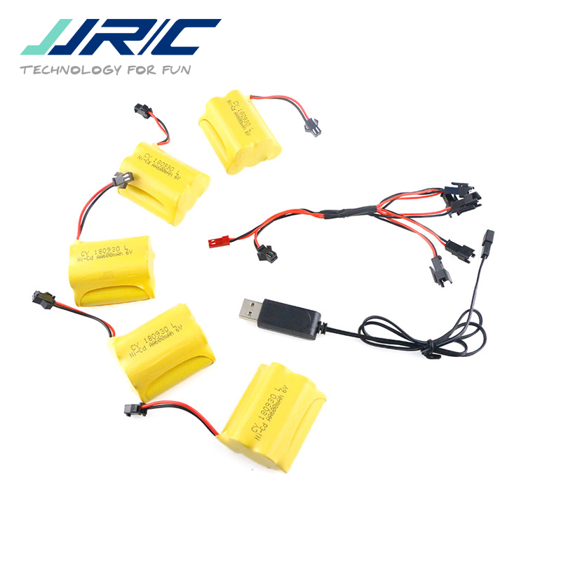 5PCS <font><b>JJRC</b></font> <font><b>Q61</b></font> Ni-Cd 6V 600MAH Battery+USB Line-04+DYX-0009 For <font><b>JJRC</b></font> <font><b>Q61</b></font> RC Car <font><b>Parts</b></font> DIY Accessories image