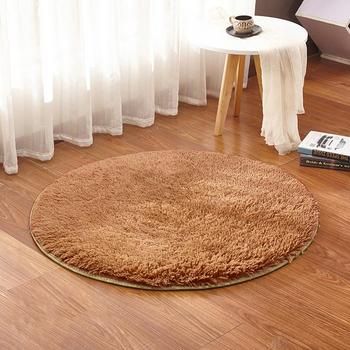 Home Decor Soft Bath Bedroom Non-slip Floor Shower Rug Yoga Plush Round Mat Soft and Warm Safe Floor Mat Tapestry image