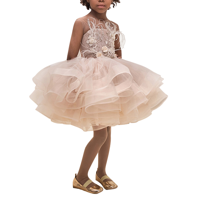Новое поступление; платья для маленьких девочек; красивые Пляжные Платья До Колена Для девочек; Платья с цветочным узором для девочек