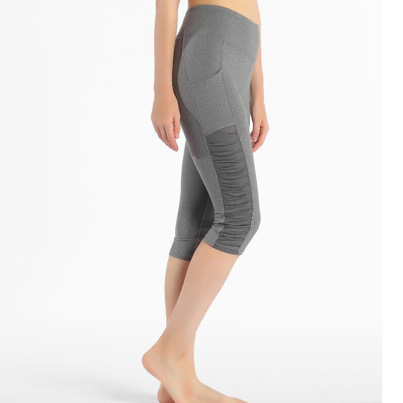 2020 black red gray mesh skinny mesh capris splice size XS-XL leggings sport pants