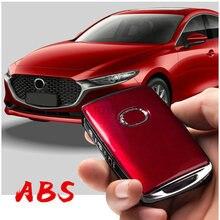 Für Mazda 3 Axela 2019 2020 2021 Auto Zine-legierung Schlüssel Fall Schutz Schlüssel Abdeckung Shell Keychain Ring Auto schutz Zubehör