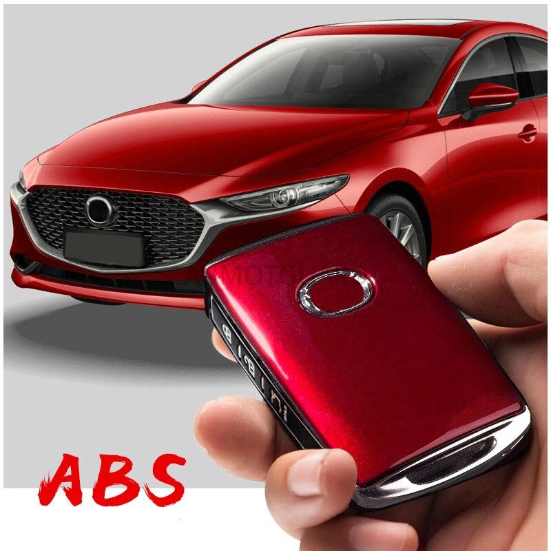 Para mazda 3 axela 2019 2020 2021 zine-liga do carro caso chave de proteção capa chave escudo chaveiro anel acessórios de proteção do carro