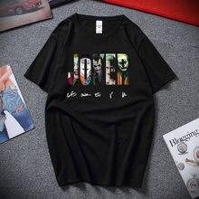 Dc comics o coringa assinatura camiseta masculina camisa coringa 2020 moda masculina de alta qualidade algodão t camisas