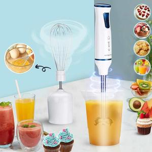 3 In 1 Portable 1000W 2 Speed Stainless Steel Electric Hand Blender Fruit Vegetable Nut Juice Smoothie Baby Food Mixer Egg Whisk