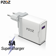 PZOZ 5A Super charger EU Plug Adapter For Huawei P20 p10 mate 20 pro 10 lite Honor fast charge USB charger 5V/4.5A Supercharge