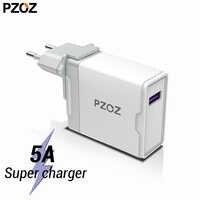 PZOZ 5A Super ladegerät EU Stecker Adapter Für Huawei P20 p10 mate 20 pro 10 lite Ehre schnelle ladung USB ladegerät 5 V/4.5A Aufzurüsten