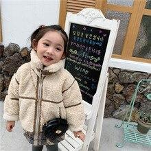 Г. Новое поступление, зимнее утепленное и теплое кожаное пальто с мехом в Корейском стиле для милых маленьких девочек и мальчиков