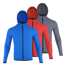 Jacket Running Sportswear Hooded Quick-Drying Nylon Fitness Winter Thin Autumn And Men