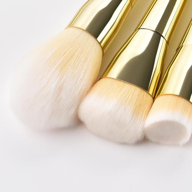 7/12pc Rose Gold Makeup Brushes Set tool for Eyeshadow Eyebrow Fundation Powder Concealer Blush Long handle Makeup maquiagem 4