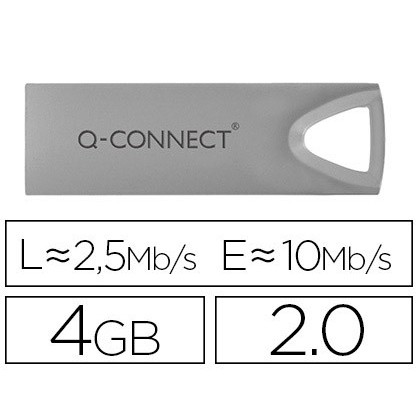USB MEMORY Q-CONNECT FLASH PREMIUM 4 GB 20