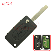 Flip remote key 3 button VA2 434Mhz for Peugeot 307 flip