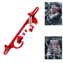 Racing 4150 4160 Series Aluminum Anodized Carburetor Throttle Cable Bracket Adjustable Red Blue Black