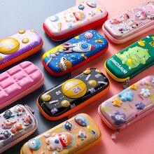 Pouch Pencil-Case Stationery Kawaii Pen-Box Zipper-Bag Large-Capacity Cartoon Waterproof