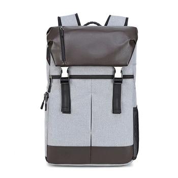 CAREELL C3081 New Leather Versatile camera bag photography SLR micro single Backpack Large Capacity Laptop Travel Bag