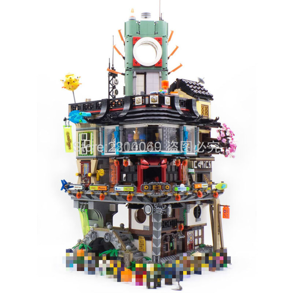 NEW In Stock 06066 4867pcs Ninja City Streetscape Series Model Building Blocks Bricks Kids Toys Christmas Gift 70620