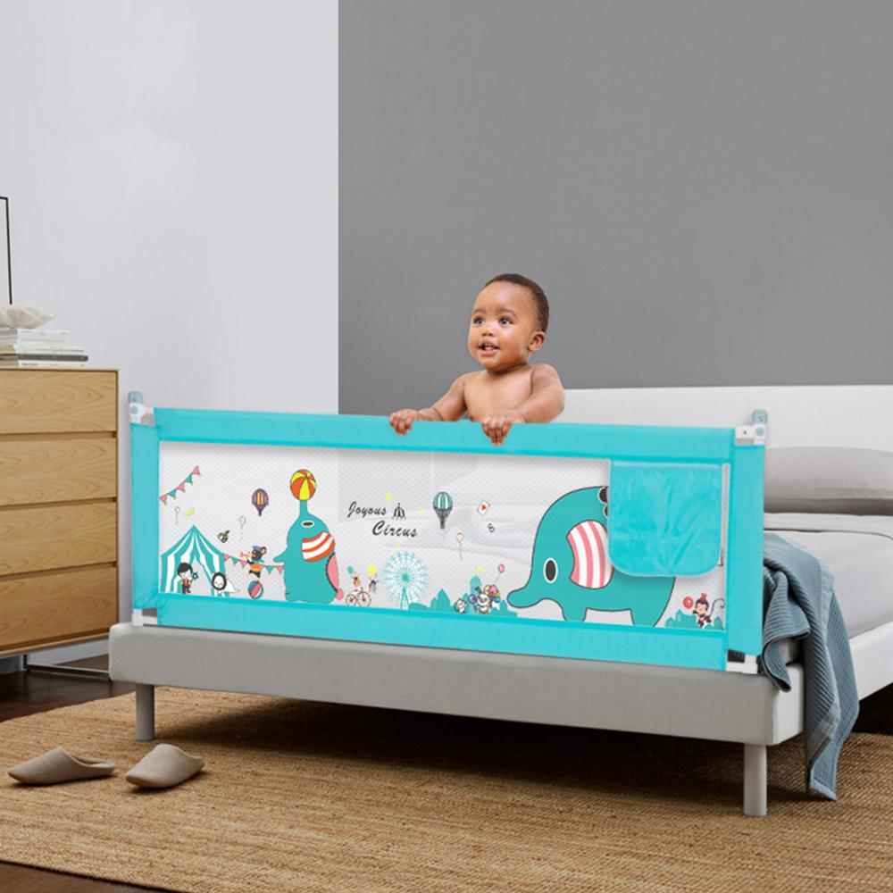 Kidlove Double Buttons Vertical Lifting Bed Fence Playing Safety Gate For Kids Baby Infant