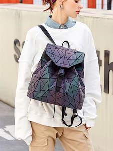 MAGICYZ Geometric-Shoulder-Bag School-Bags Laser-Luminous-Backpack Teenage-Girl Women