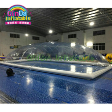 Free shipping inflatable pool cover children / garden swimming pool cover tents цена 2017