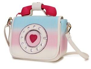 Image 2 - トレンディ電話デザイングラデーションカラーpu女性のショルダーバッグトートクロスボディのメッセンジャーバッグカジュアルハンドバッグボルサ財布フラップ