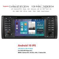 1Din Android 10.0 4G 64G Auto Radio Car DVD Player For BMW/E39/X5/E53 GPS Navigation Car Multimedia Stereo System USB DVR OBD BT