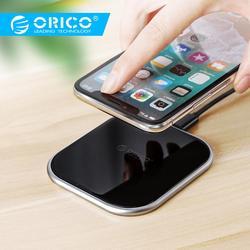 Orico 10 w qi carregador sem fio para iphone x 8 xs usb 5 v 9 v de carregamento sem fio para samsung galaxy s8 s9 s7 qi usb carregador sem fio