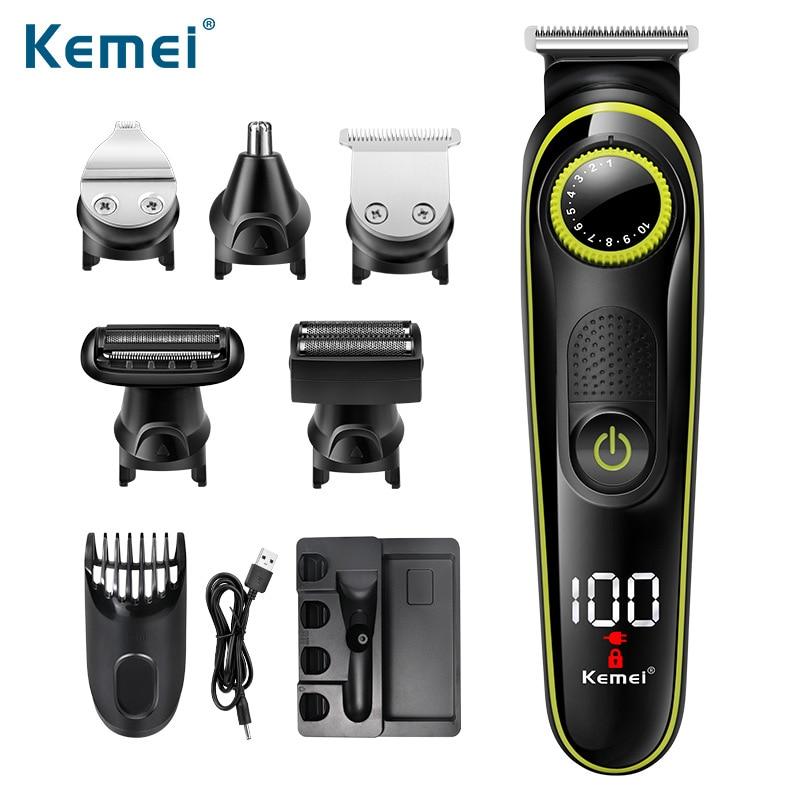 US Bureau Of Km-696 Electric Hair Clipper Household Multi-functional Electric Hair Clippers Rechargeable Shaver