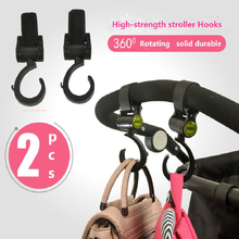 2pcs/Set Stroller Rotate 360 Hooks Wheelchair Pram Carriage Bag Hanger Hook Baby Strollers Clip Accessories