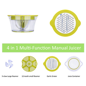 Image 2 - NTONPOWER 4 in 1 Multifunctional Lime Squeezer Manual Juicer with Multi Size Reamers Ginger Garlic Grater Kitchen Accessories