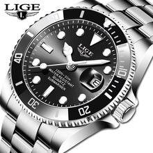 Часы наручные lige Мужские кварцевые водонепроницаемые до 30