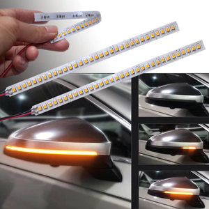 2PCS Car Rearview Mirror Indicator Lamp DRL Streamer Strip Flowing Turn Signal Lamp LED Car Light Source Turn Signals For Cars