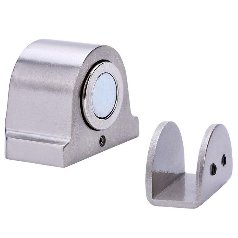 Im/án para puertas Tope de puerta de acero inoxidable soporte magn/ético para puerta de ba/ño puerta de vidrio oculta accesorios para muebles