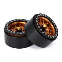 """INJORA 4PCS 1.9"""" Metal Beadlock Wheel Hub Rim for 1/10 RC Crawler Car Traxxas TRX4 Axial SCX10 90046 AXI03007 RedCat Gen8 6"""