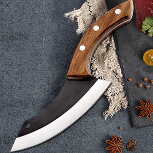 Image 5 - Handmade Chef Knife Clad Forged Steel Boning Slicing Butcher Kitchen Knives Meat Cleaver Kitchen Tools