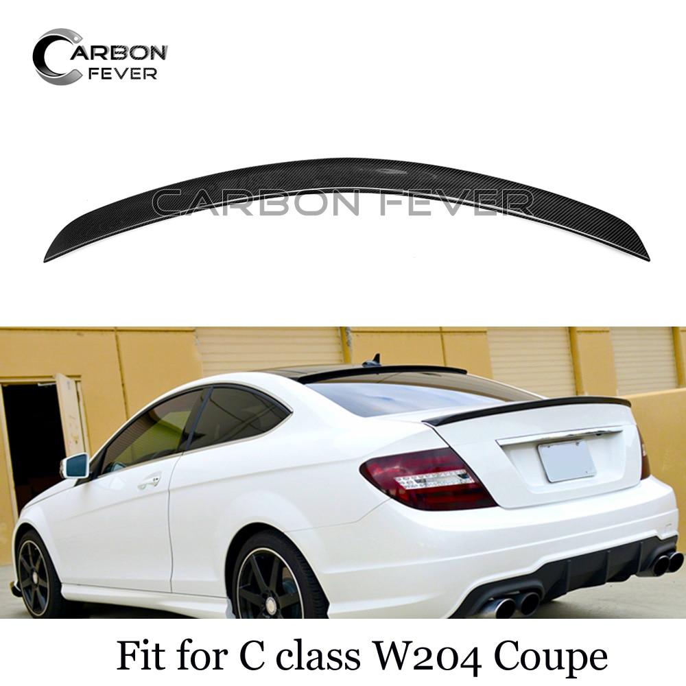 W204 cf spoilers para mercedes c classe fibra de carbono spoiler tronco asas c180 c200 c250 c280 c300 2 door casal 2007 2014|Spoilers e aerofólios| |  - title=