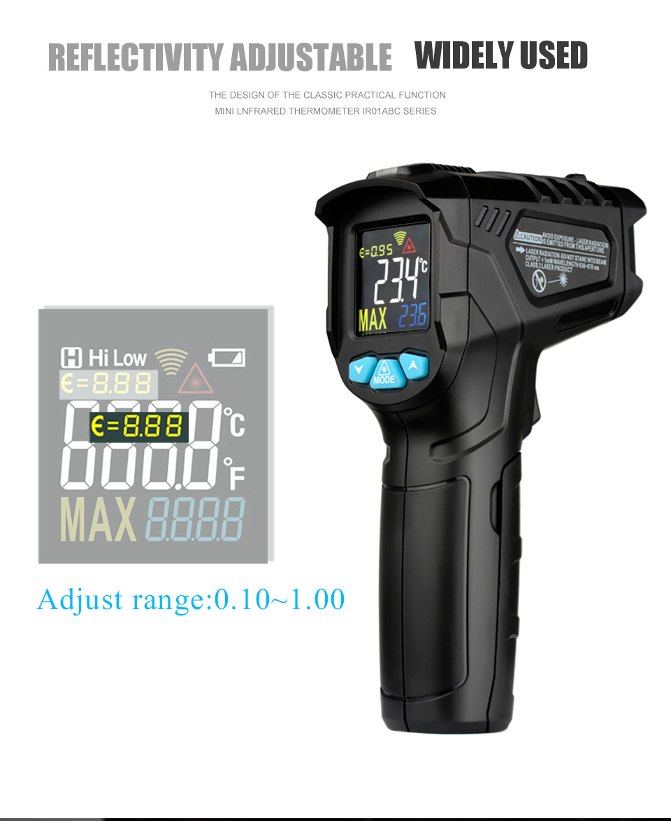 H833f3197d0e64b0ab3745a7fb5c5beefK MESTEK IR01 digital thermometer humidity meter infrared thermometer hygrometer temperature meter pyrometer Imager termometro