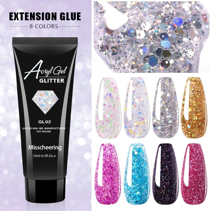 Для УФ гель лак для ногтей Extenion гель 15g гвоздь акриловая жесткая Защитная гель с украшением в виде кристаллов клей для полировки ногтей стро...