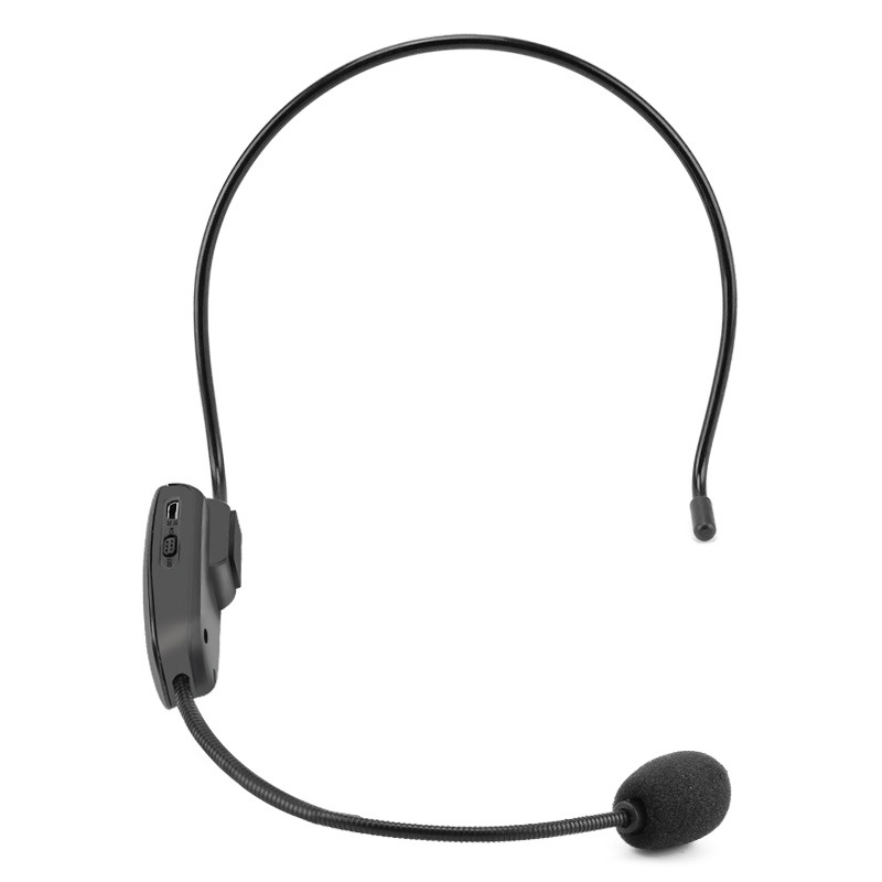 Portable Fm Wireless Microphone Headset Head-Mounted Megaphone Radio Mic For Loudspeaker For Teaching Tour Guide Meeting Lectu