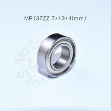 цена на MR137ZZ bearing 7*13*4(mm)  ABEC-5 Metal Sealed Miniature Mini Bearing MR137 MR137ZZ chrome steel deep groove bearing