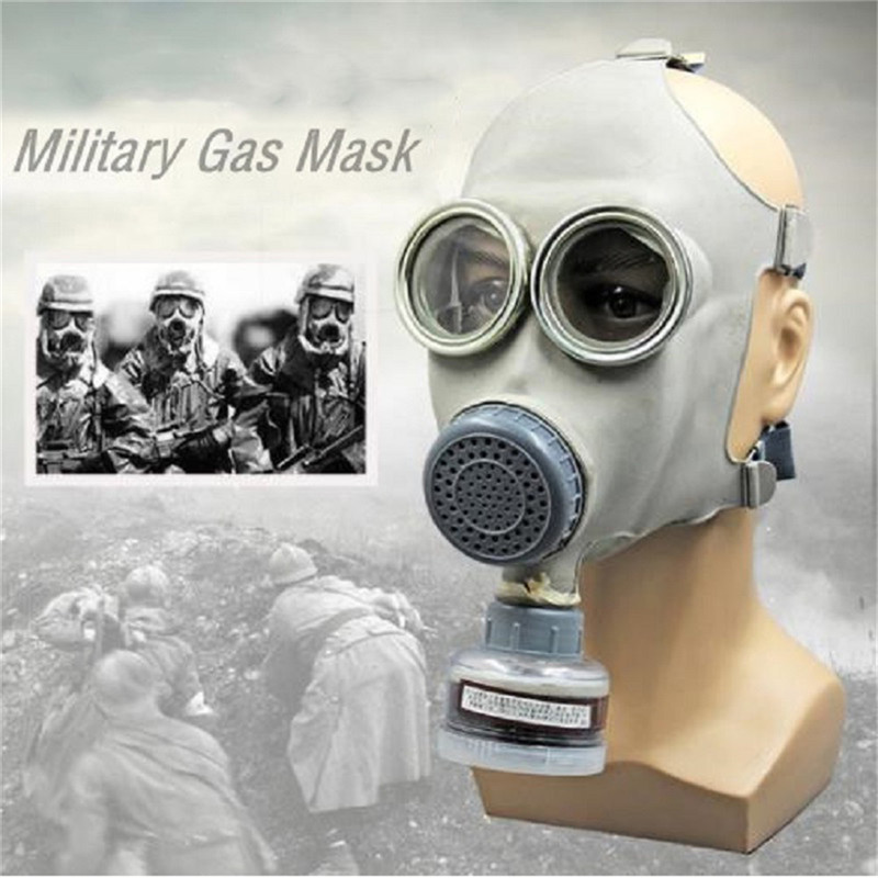Military Gas Mask 64 Full-face Respirator Painting Spray Pesticide Chemical Prevention Mask With 50mm Pipe Filters