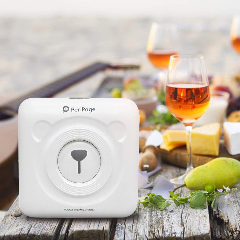 Mini Tragbare Thermische Bluetooth Drucker 58mm Handheld Tasche Foto Drucker Für Mobile Android iOS Telefon PeriPage Weihnachten Geschenk