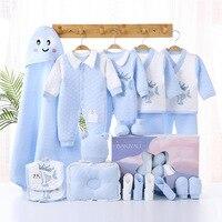 20pcs/lots Autumn Winter Baby Newborn Clothes Set Pure Cotton Infant Suit Boys Clothes Outfits Pants Baby Clothing Hat Bibs set