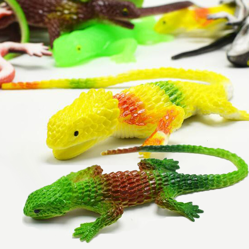 Lizard Toy Reptile Rubber Animals Prank Gadgets Scary Interesting Novelty Toys For Children Boys Girls