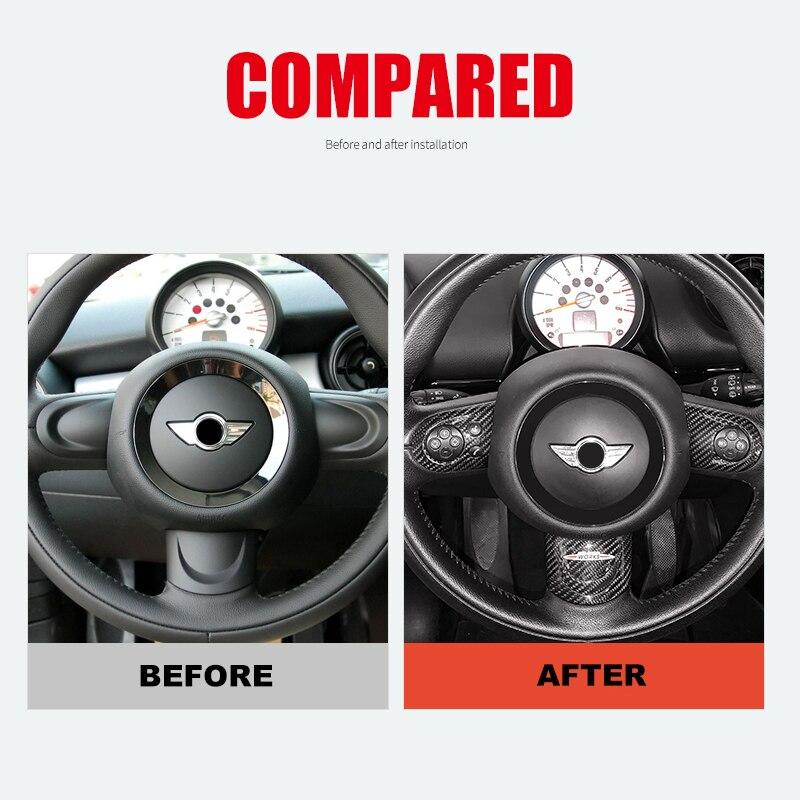 Накладка на руль из углеродного волокна, внутренняя декоративная наклейка для Mini Cooper R55 R56 R57 R58 R59 R60 Clubman Countryman - 4