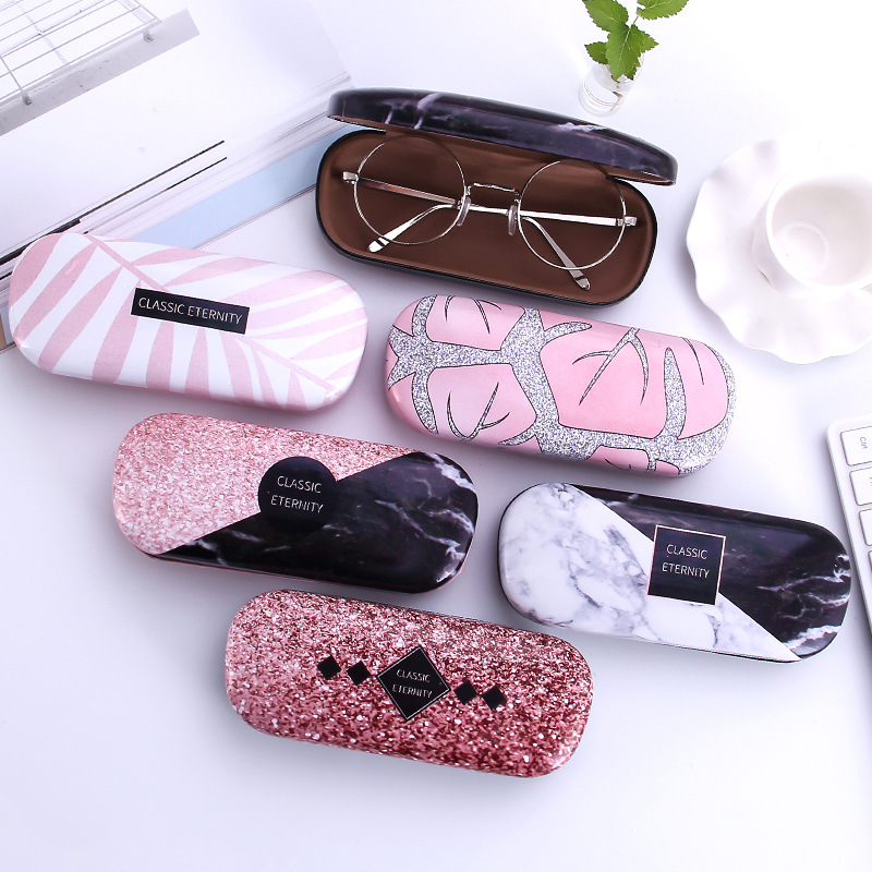 Handmade Flowers Glasses Case For Girl Hard Frame Eyeglass Case Reading Glasses Box Multicolor Eyewear Spectacle Cases