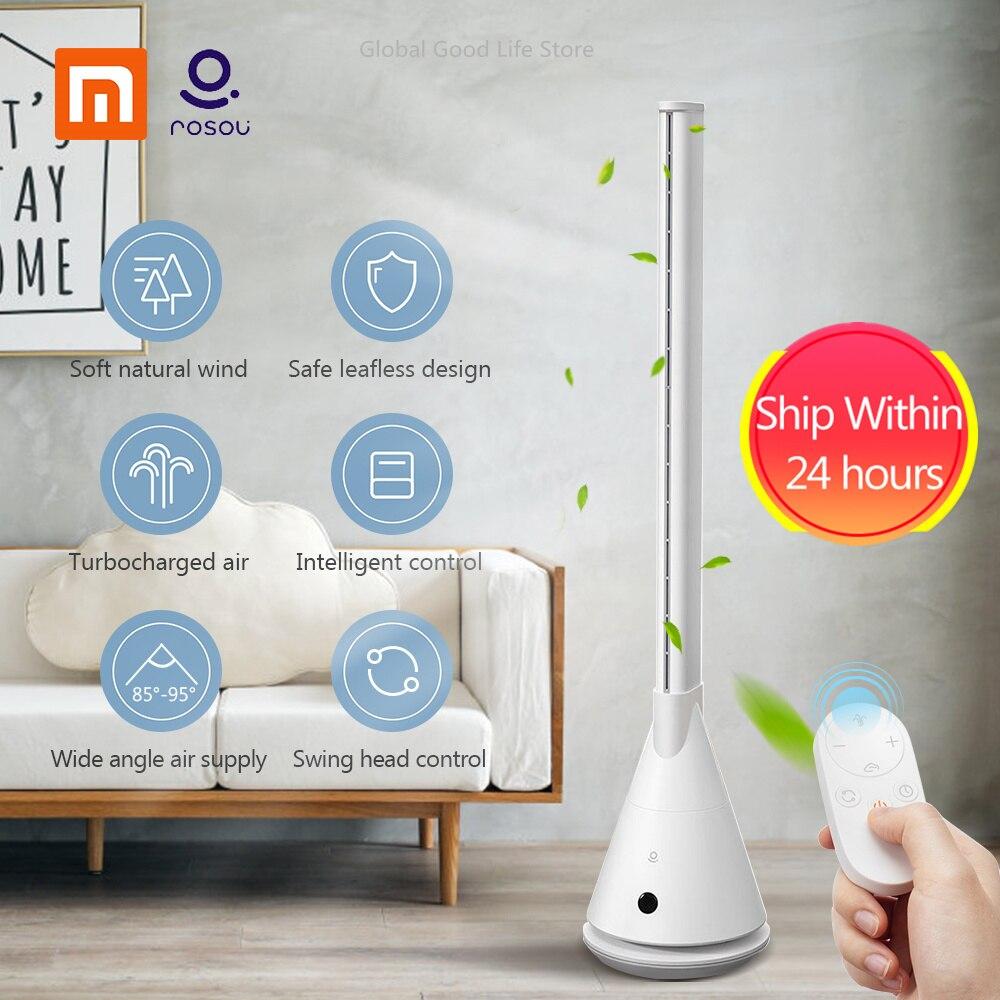 Novo Xiaomi Rosou SS4 Inteligente Ventilador Bladeless Mijia APP Controle/Controle Remoto 11 Velocidade do Vento Natural Timing Ventilador Para escritório em casa