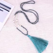 C.QUANCHI Fashion Natural Pearls with Hematite Stone Beads Statement Necklaces Jewelry Handmade Bohemian Friendship Necklaces c quanchi woman jewelry statement necklaces