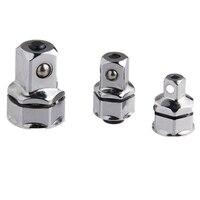 3 sztuka klucz zestaw adapterów gniazdowych 1/4 Cal 3/8 Cal 1/2 Cal plac sześciokątny uchwyt Cr V do szybkiego jazdy adapter rękawa w Zestawy narzędzi ręcznych od Narzędzia na