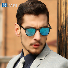 luxury Classic Semi Rimless Polarized Sunglasses