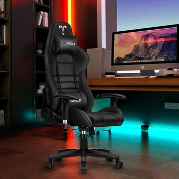 Furgle Office Chair Ergonomic Game Computer Chair with Body-hugging Leather Boss Chair Game Armchair Office Chair white for WCG giantex pu leather ergonomic office chair armchair executive chair boss lift chair swivel chair office furniture hw50391