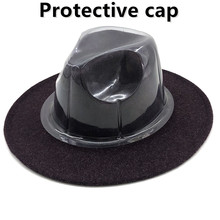 Fedora sombrero de ala de Jazz sombrero Fedora de plástico